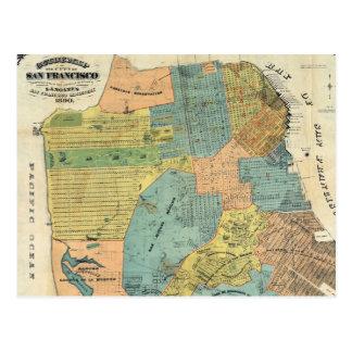 Vintage Map of San Francisco (1890) Postcard
