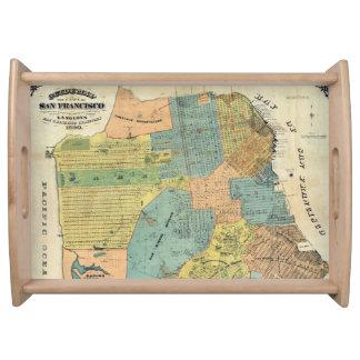 Vintage Map of San Francisco (1890) Serving Tray