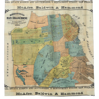 Vintage Map of San Francisco (1890) Shower Curtain