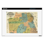 "Vintage Map of San Francisco (1890) 15"" Laptop Decals"
