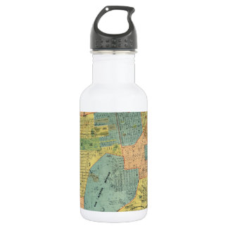 Vintage Map of San Francisco (1890) Stainless Steel Water Bottle