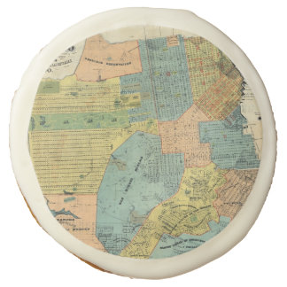 Vintage Map of San Francisco (1890) Sugar Cookie