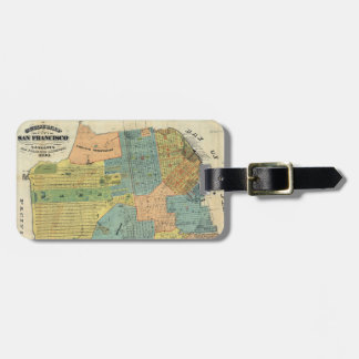 Vintage Map of San Francisco (1890) Tag For Luggage