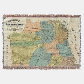 Vintage Map of San Francisco (1890) Throw