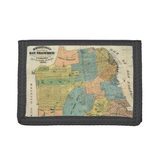 Vintage Map of San Francisco (1890) Tri-fold Wallets