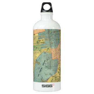 Vintage Map of San Francisco (1890) Water Bottle
