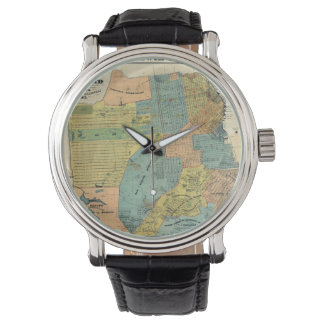 Vintage Map of San Francisco (1890) Wrist Watches
