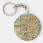 Vintage Map of San Francisco (1915) Basic Round Button Keychain