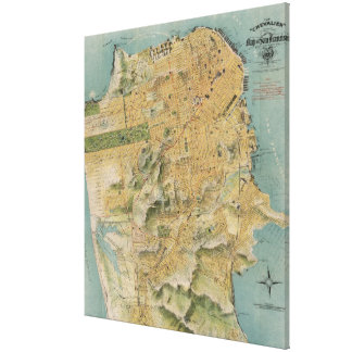 Vintage Map of San Francisco (1915) Canvas Print