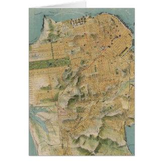 Vintage Map of San Francisco (1915) Greeting Cards