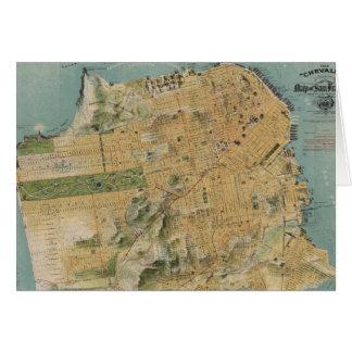 Vintage Map of San Francisco (1915) Greeting Card