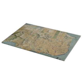 Vintage Map of San Francisco (1915) Cutting Board