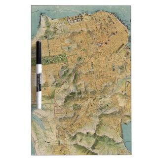 Vintage Map of San Francisco (1915) Dry-Erase Whiteboard