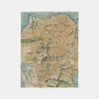 Vintage Map of San Francisco (1915) Fleece Blanket