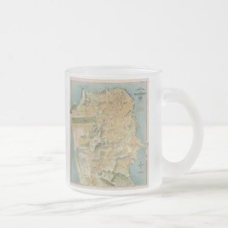 Vintage Map of San Francisco (1915) Frosted Glass Coffee Mug