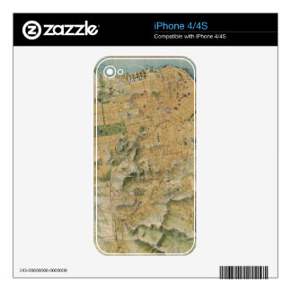 Vintage Map of San Francisco (1915) iPhone 4S Skin
