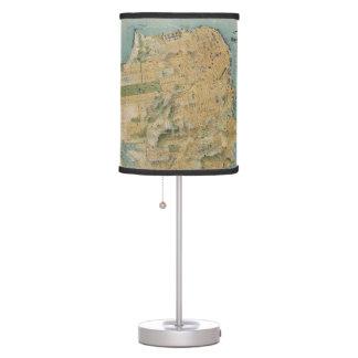Vintage Map of San Francisco (1915) Desk Lamps