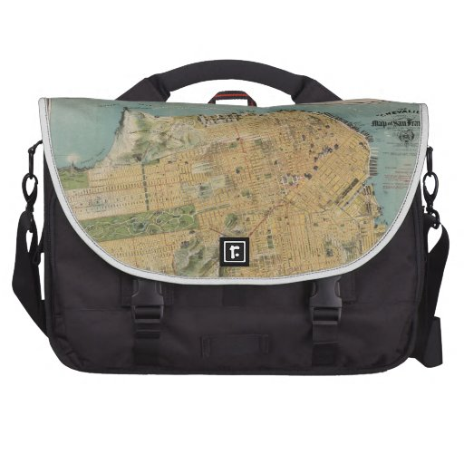Vintage Map of San Francisco (1915) Laptop Bag