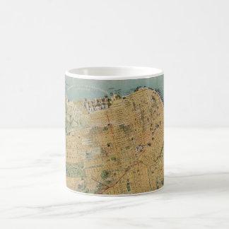 Vintage Map of San Francisco (1915) Classic White Coffee Mug