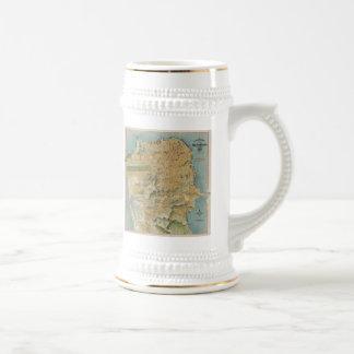 Vintage Map of San Francisco (1915) 18 Oz Beer Stein