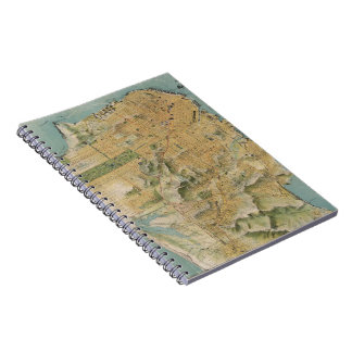 Vintage Map of San Francisco (1915) Note Book