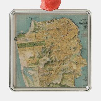 Vintage Map of San Francisco (1915) Christmas Ornaments