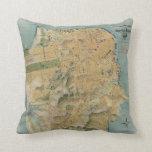 Vintage Map of San Francisco (1915) Pillow