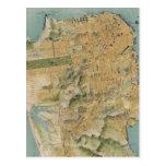 Vintage Map of San Francisco (1915) Post Card