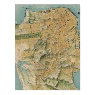Vintage Map of San Francisco (1915) Post Card