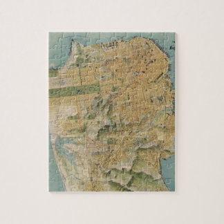 Vintage Map of San Francisco (1915) Jigsaw Puzzle