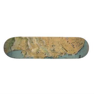 Vintage Map of San Francisco (1915) Skateboard