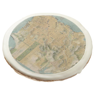 Vintage Map of San Francisco (1915) Sugar Cookie