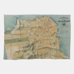 Vintage Map of San Francisco (1915) Towel