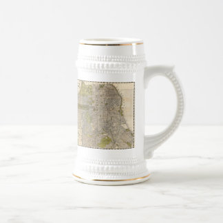 Vintage Map of San Francisco (1932) Beer Stein