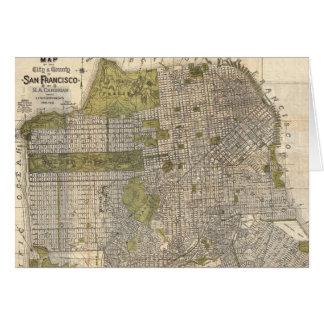 Vintage Map of San Francisco (1932) Cards