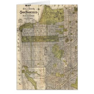 Vintage Map of San Francisco (1932) Card