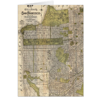 Vintage Map of San Francisco (1932) Cards
