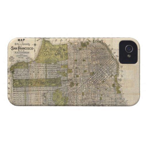 Vintage Map of San Francisco (1932) iPhone 4 Case-Mate Case