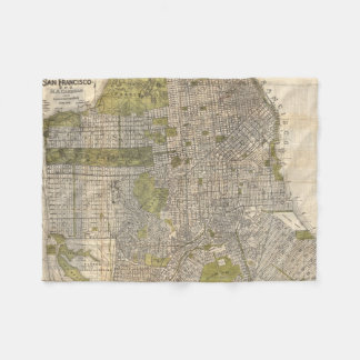 Vintage Map of San Francisco (1932) Fleece Blanket