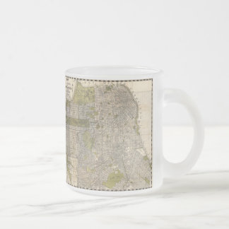 Vintage Map of San Francisco (1932) Frosted Glass Coffee Mug