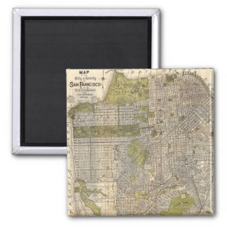 Vintage Map of San Francisco (1932) Magnet