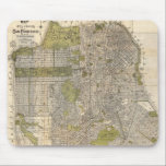 """Vintage Map of San Francisco (1932) Mouse Pad<br><div class=""""desc"""">This is a vintage map of San Francisco California produced in 1932.</div>"""