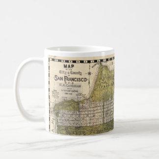 Vintage Map of San Francisco (1932) Classic White Coffee Mug