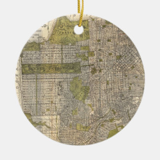 Vintage Map of San Francisco (1932) Christmas Ornaments