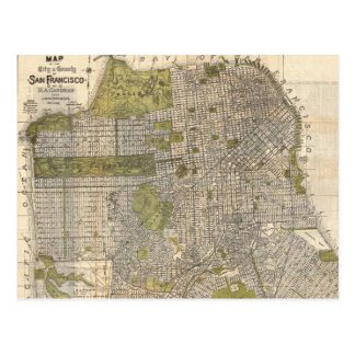 Vintage Map of San Francisco (1932) Postcard