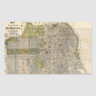 Vintage Map of San Francisco (1932) Rectangular Sticker