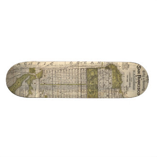 Vintage Map of San Francisco (1932) Skateboard Deck