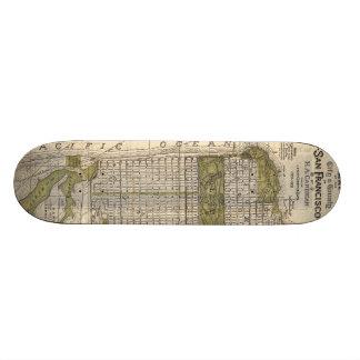 Vintage Map of San Francisco (1932) Skateboard Deck