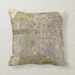 Vintage Map of San Francisco (1932) Throw Pillow