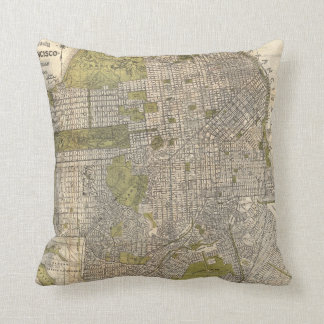 Vintage Map of San Francisco (1932) Throw Pillow